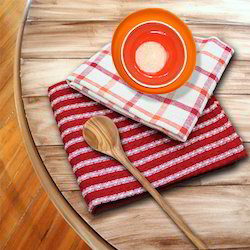 Organic Cotton Plaid Kitchen Towels
