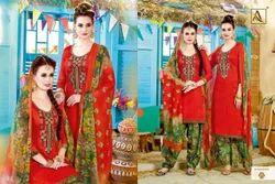 Casual Wear Cotton Ladies Punjabi Suit