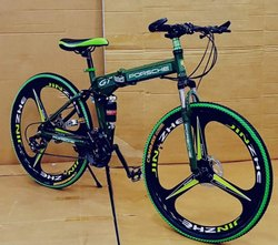 Porsche Green Foldable Cycle