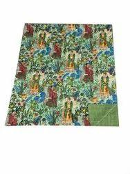 Frida Kahlo Printed Cotton Kantha Work Gudari