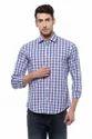 Cotton Long Sleeve Peter England Blue Shirt