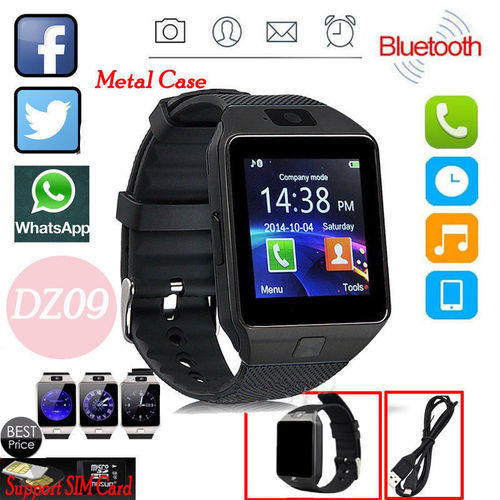 b4330611e Golden And Silver DZ09 Bluetooth Smart Watch, Rs 650 /piece | ID ...