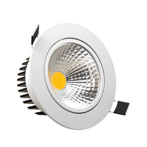 Dimmable Led Ceiling Lights India: Philips Aluminum Cob Led Downlight, IP Rating: IP66, Rs