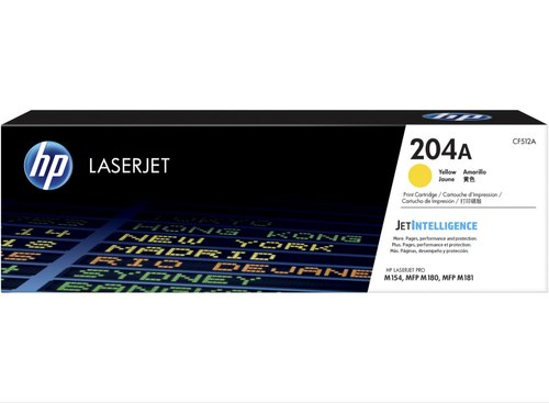 HP 204A Yellow LaserJet Toner Cartridge