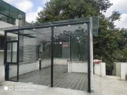 Terrace Toughened Glass Partition Work