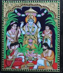 Sathyanarayanan Tanjore Painting