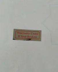 Silver HST Warranty Labels, Packaging Type: Box