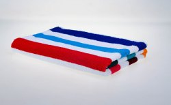 Cotton Stripped Terry Towels, Size: 30 inches X 60 inches
