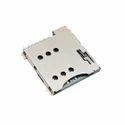 Micro Sim Card 6 Pin Push Type Metal Body