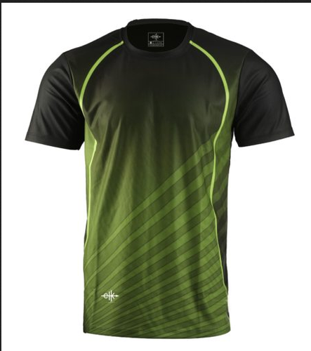 88655c2ceb2 Men Custom Sublimated Sports Jersey Green Black at Rs 499  piece ...