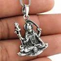 Oxidized 925 Sterling Silver Ganesha Pendant