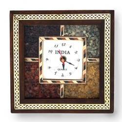 Antique Gemstone Wooden Wall Clock 189