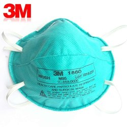 Disposable 3M 1860 Mask, Certification: Vinus, Number of Layers: 5