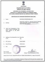 Import Export License