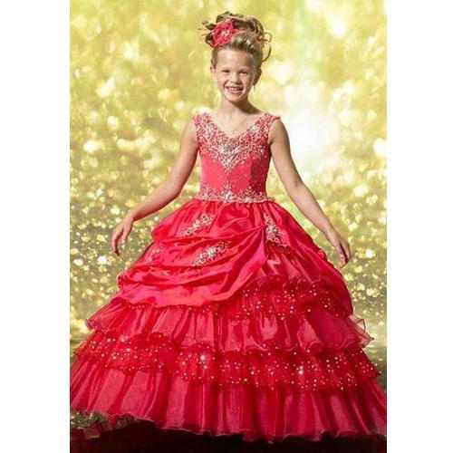 Net And Satin Party Wear Kids Ball Gowns, Rs 15000 /piece, S.B. ...