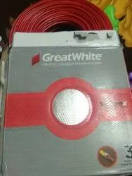 Great white Red Electrical Wire, For House Wiring, Wire Size: 290foot
