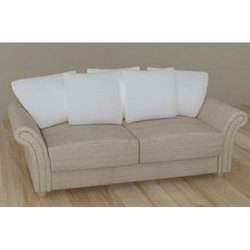 Wooden Brown 2 Seater Designer Sofa