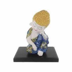Brand Basket Polyresin Baby Buddha Decorative Statue, 18*9.5*10 Cm, 19.5*12*9 Cm, Box