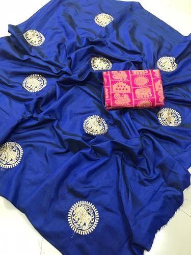 9c4407d4e1 Sana Silk Embroidered Party Wear Saree, Length: 6.3 M, Rs 550 /piece ...