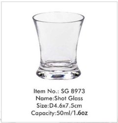 Transparent 50ml Shot Glass Polycarbonate, For Hotel, Restaurant & Bars, Size: Small 1.6oz