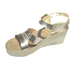 Synthetic Leather Stylish Wedge Sandal, Size: 36-41