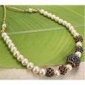 Women Party Wear Pearl Beaded Necklace