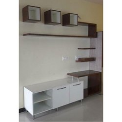 RP Traders Living Room Wooden TV Unit