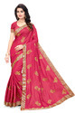 Self Design Pure Silk Pink Saree