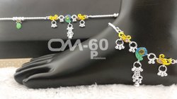 Fancy Silver Anklet