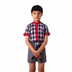 Summer Cotton Kendra Vidyalaya School Uniform Set for Junior