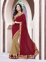 Indian Women Moss Chiffon Saree