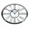 Decorative Oval Shape Nickel Clock