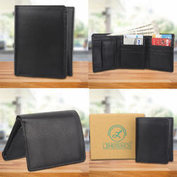 Mens Black Leather Wallet
