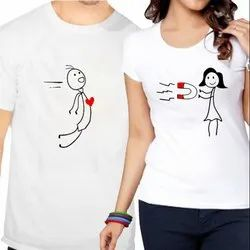 Polyester White T-Shirt Printing Services