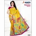 Mamta Party Wear Ladies Ethnic Printed Designer Saree 6 M (with Blouse Piece)
