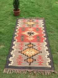 Hand Woven Kilim Multi Color Bohemian Rug Home Decorative Rug Traditional Flat Woven Rug