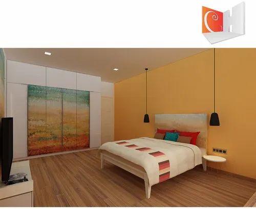 Cubit Homes Bedroom Interior Designing Art Series, Size: 150 Sft