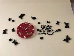 Colored Acrylic Wall Clock