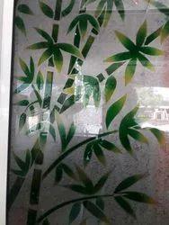 Bamboo Tree Printed Glass