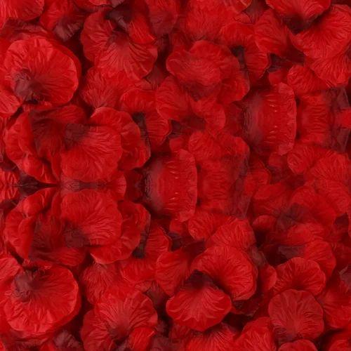 3000 pieces dark red silk rose petals artificial flower petals