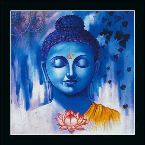AAF Beautiful Lord Buddha UV Coated Home Decorative Gift Item Framed Painting