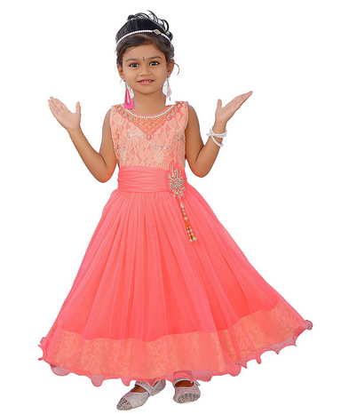 beaedb3ae64f Girl Gown - Girls Coral Coloured Dress Wholesale Supplier from ...