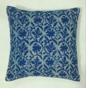 Indigo Blue Cotton Rugs Cushion Cover