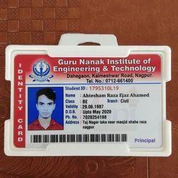 Plastic Rectangular Barcode ID Card