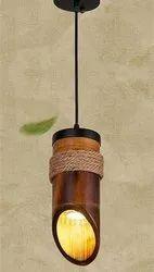 Handmade Bamboo Decorative Hanging Lamp, For Decoration