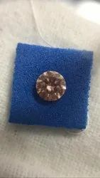 Orange Pink 1.006ct SI1 Round Brilliant CVD Diamond