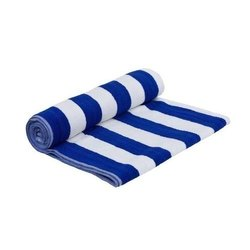 Striped Cotton Spa Towel, 550 gm