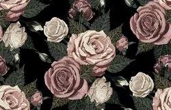 Rose Flower Floral Pattern Digital Printed Fabrics