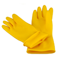 Yellow Acid Alkali Proof Handcate Hand Gloves