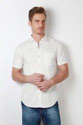 Men Cotton Peter England White Shirt, Size: 39, 40, 42, 44